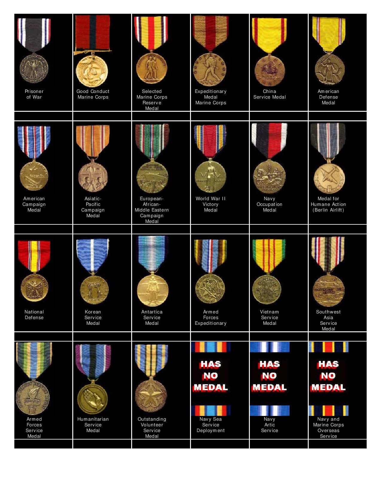 Marine Medals & Awards